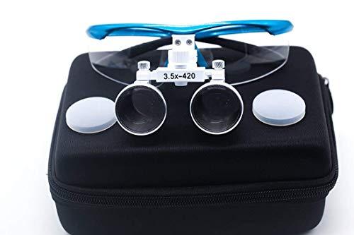 GoDen 3.5倍拡大鏡 双眼ルーペ 虫眼鏡 ブルー