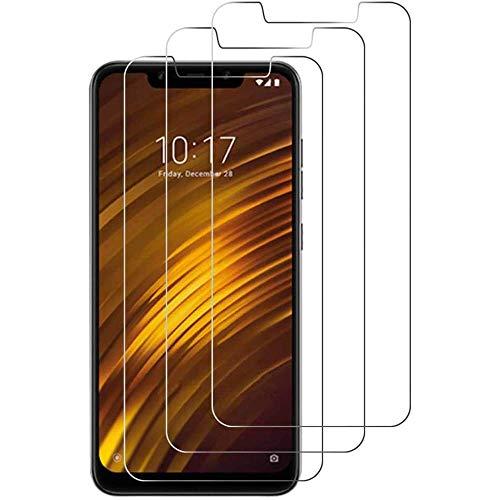 iGlobalmarket Lot de 3 Films de Protection d'écran en Verre trempé pour Xiaomi Pocophone F1, Haute définition, dureté 9H, résistant aux Rayures