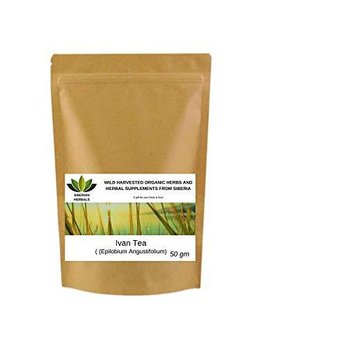 Ivan Tee fermentiertes Weidenröschen Иван-Чай (Epilobium Angustifolium) Wild geerntete Bio-Kräuter aus Sibirien, Russland. (50 Gramm)