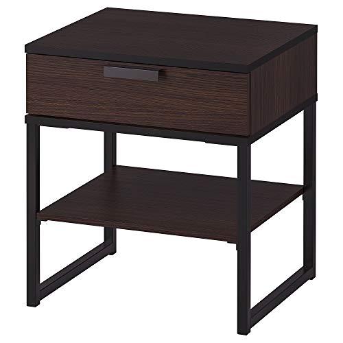 IKEA Trysil Nachttisch, Dunkelbraun, schwarz