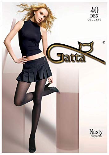 Gatta Nasty Hipster - 40den - elegante Hüftstrumpfhose für Miniröcke - Größe 3-M - Bronze