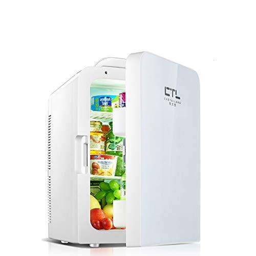 Mini Nevera Portátil de 20 L, Mini Calentador de Frigorífico, Mini refrigerador para Autos habitación compartida de una Sola Puerta, refrigerador de Doble Uso para el hogar (Oro/Plata)