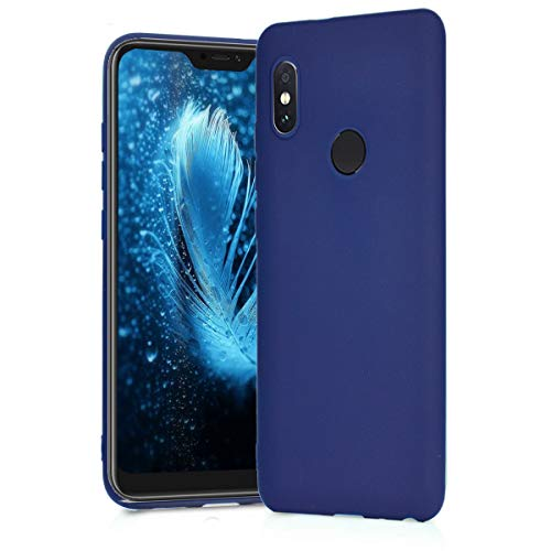 BESTCASESKIN Funda Compatibile con Xiaomi Mi A2 Lite Carcasa Silicona [Colores del Caramelo] Protector Ultra-Delgado TPU Goma Gel Flexible Caso teléfono móvil Protección Case, Azul Oscuro