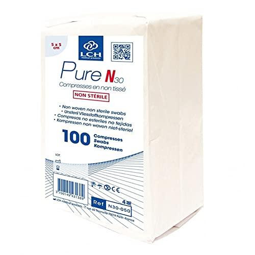 LPM - 10 sachets de 100 compresses non tissée non stérile 5 x 5 cm
