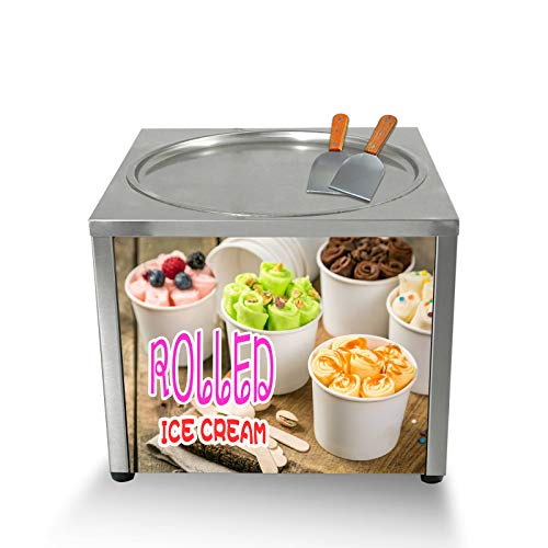 Commercial Desktop 45CM Single Round pan Fried ice Cream Machine,Fry Frozen Yogurt ice Cream roll Machine,ice pan Machine