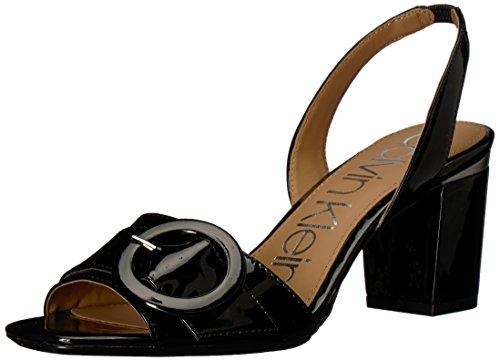 Calvin Klein Women's Claudia Heeled Sandal, black, 9.5 Medium US