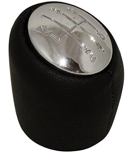 Aerzetix - Pomello leva del cambio velocità 6 marce per auto . Tappo cromato .