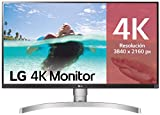 LG 27UL650-W - Monitor 4K UHD de 68,6 cm (27') con Panel IPS (3840 x 2160 píxeles, 16:9, 350 cd/m², sRGB 99%, 1000:1, 5 ms, 60 Hz) Color Plata y Blanco