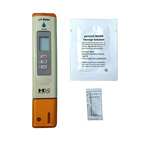 PH Meter with Automatic Calibration, 7Pros High Accuracy Pen Type Water Quality Tester, 6 pH Buffer Powder Packets, Best Tool for Testing PH of Fish Tank, Pool, Pond, Kombucha, Wine, Drinking Water