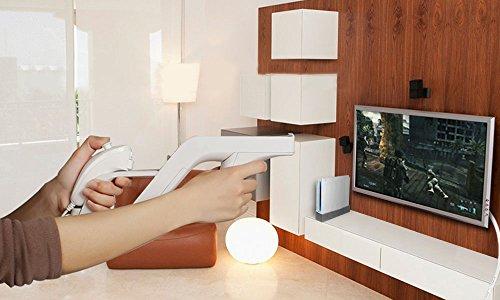 Nintendo Wii Zapper Gun Remote And Nunchuck Controller (Controller, Shooter games, Nintendo Wii Compatible) - White