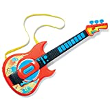 Kids Electric Musical Guitar Toy Play Set with Play Mode and Sounds for Boys Girls