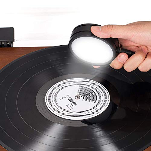 Nobsound 50/60Hz Stroboscopic Speed Strobe Light + Tachometer Disc for Turntable LP Record Player