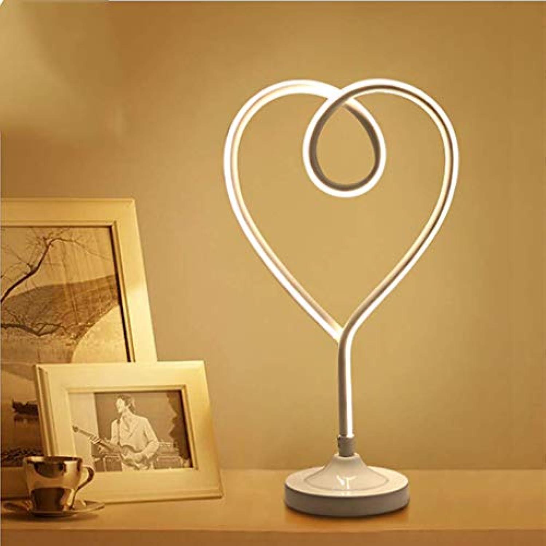 FFyy Einfache Tischlampe Liebe Schlafzimmer Nacht Warmes Nachtlicht Romantische Kreative Persnlichkeit Augenschutz LED Dekoration Tischlampe