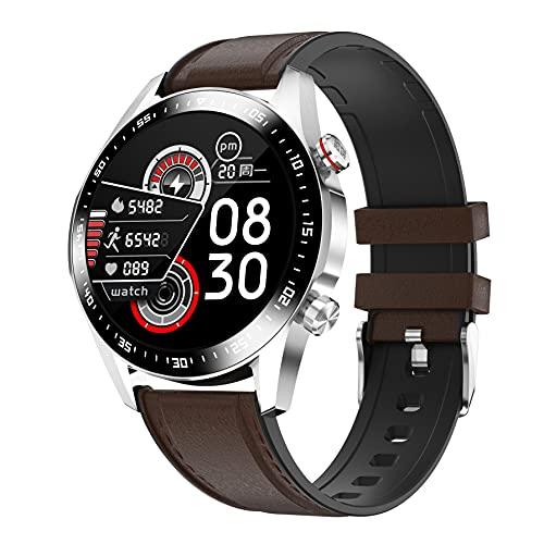 ZGZYL E12 Bluetooth Music Llame A Smart Watch para Hombres, con Presión Arterial/Oxígeno En La Sangre Y Monitoreo De Ritmo Cardíaco Reloj Podómetro Deportivo Reloj,E