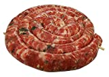 Sausage Ring - Frank and Sal Italian Market Made Fresh Daily – 8 Pounds - Nitrate Free No Additives. (Cheese and Parsley)