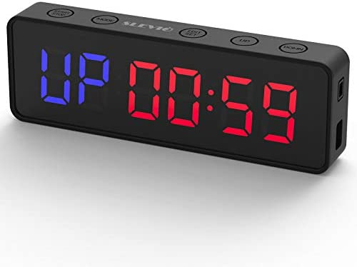 Portable Gym Workout Timer Fitness Clock with The Rubber Case and Built in Magnetic Spine Large product image