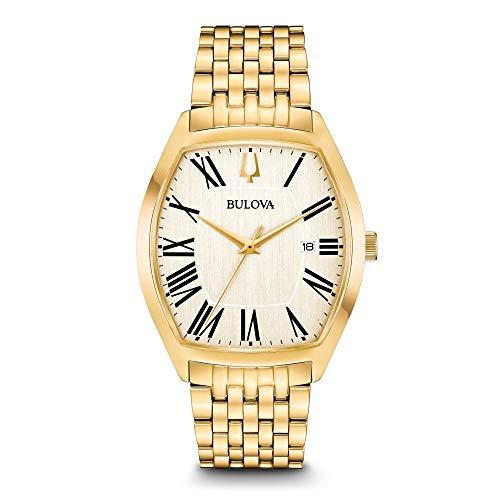 Bulova Herren Analog Quarz Uhr mit Edelstahl Armband 97B174