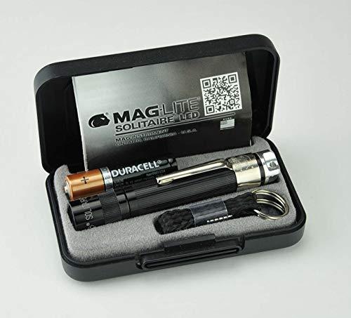 MagLite Solitaire Spectrum LED 1AAA Mini-Taschenlampe schwarz (warm Weiße LED), J3ASZ2