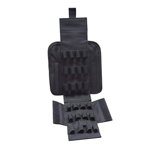 Tracffy Bolsa de munición portátil de 25 conchas redondas para pistola de recarga, bolsa táctica – negro