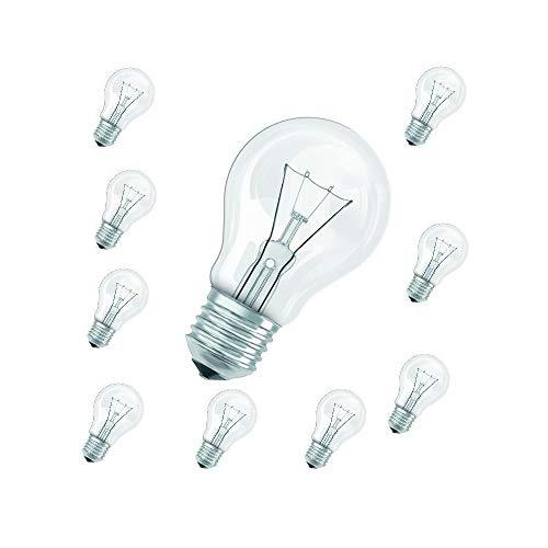 LHG Glühbirnen 60W klar Classic im 10er Pack | Leuchtmittel E27 | 10x Glühlampen A60 230V