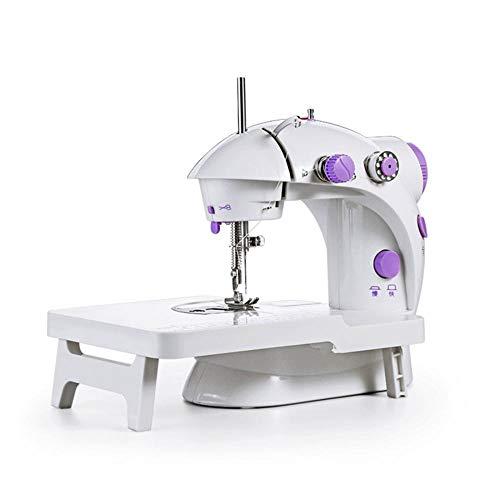 AYES - Máquina de coser electrónica, portátil, mini máquina de coser manual familiar, máquina de coser especial european standard morado