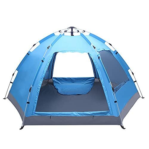 SCAYK 3-4 Persona Familia Automática Tienda Instantánea Pop Up a Prueba de Agua para Camping Senderismo Viajes Actividades al Aire Libre Doble Canopy Tienda Extensión Pop Up Tepee Dome