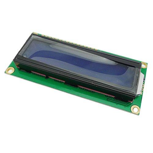 KKHMF DC 5V 1602 LCD ディスプレイモジュール 16×2キャラクタ LCDブルーブラックライト