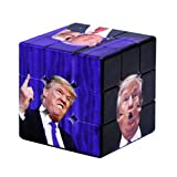 Magic Speed Cube, Presidente De Los Estados Unidos Trump Trump Retrato UV Impresión De Terceros Puzzle 3D Puzzle Magic Cube - Liso Rápido Ultra Durable, Juguetes De Educación En El Aula