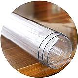 KUAIE Estera Protección Suelo Limpieza Fácil Sin Rizar Alfombrillas Transparentes por Escritorios, Sillas, Sala, 51 Tamaños (Color : 3.0mm, Size : 60cmX120cm)