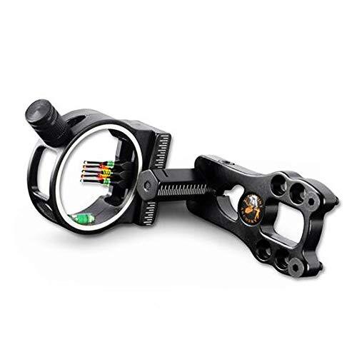 SHARROW 5 Pin Archery Fibre Optic Compound Bow Sight Aluminium Alloy...