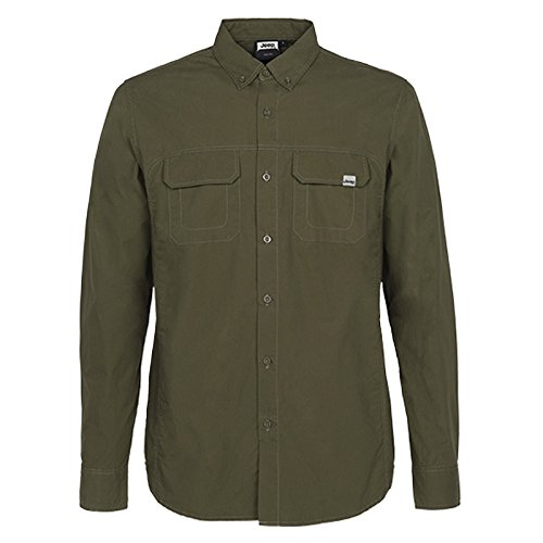 Jeep Chemise Button-Down Manche Longues Homme J5W, Dark Green, XL