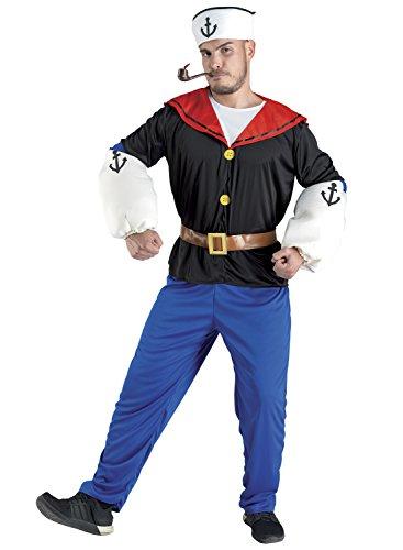 chiber - Costume da Braccio di Ferro, da Uomo