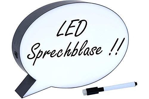 NO NAME (FOREIGN BRAND) LED-Leuchtbox Sprechblase m. Stift&Rad.