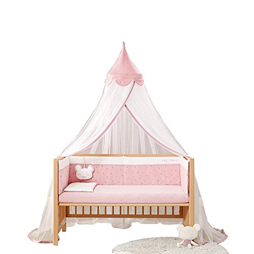 Mosquiteras, mosquiteros para bebés, antimosquitos 360 °, Suaves y Transpirables, Altura Ajustable, luz de Bloqueo, mosquiteros montados en el Piso (Azul, Rosa)