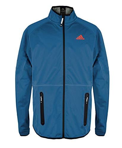 adidas Herren Softshelljacke Funktionsjacke Windjacke ungefüttert, Farbe:blau, Größe:XL