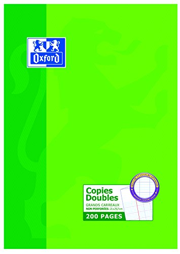 Oxford Scolaire Feuilles A4 doubles grands carreaux 200 pages Blanc