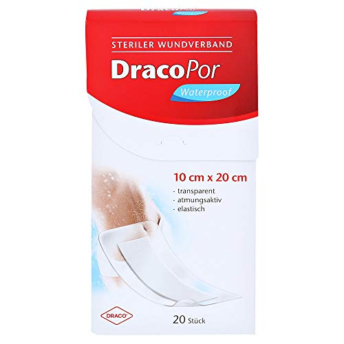 DRACOPOR waterproof Wundverband 10x20 cm steril 20 St