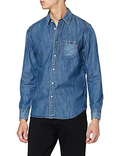 REPLAY M4009a.000.26c 518 Camisa Vaquera, Azul (Medium Blue 9), M para Hombre