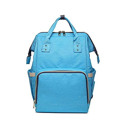 CZFSKCZsjb Escolares Portatil Mochila Mujer, Bolso Casual Multifuncional de Gran Capacidad Impermeable Bolso Mochila mamá (Color : Water Blue)