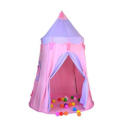 Tienda infantil portátil Niños tienda de campaña Bebé Play Play Princess Castle Muchacha al aire libre interior juguetes niños jugar tienda Tienda tipi para niños ( Color : Pink , Size : 120×165 cm )