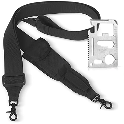 Team's 2 Point Rifle Sling - Hunting Military Rifle Strap, Gun Accessories, 2'' Extra Wide Strap | Sling with swivels - Fits Any Gun 2 Point Strap, Adjustable Length 40''-59'' + Free Bonus