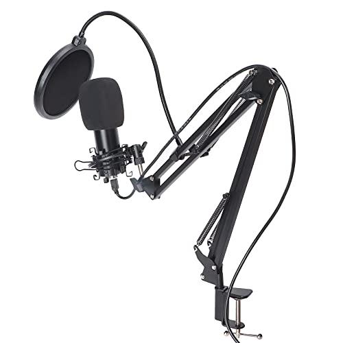 01 Microphone USB de Streaming, Microphone USB Amovible Qualité sonore Garantie par USB avec Support Robuste pour la création Musicale pour l'enregistrement Audio pour la Diffusion en Direct