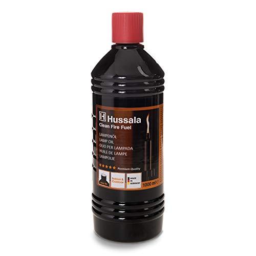 Hussala Clean Fire Fuel Lampenöl für Öllampen, Gartenfackeln, mit Einfüllhilfe, 1l