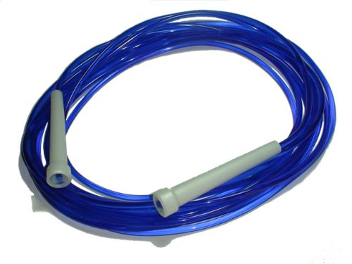 Skip Hop Long Speed - Comba para fitness (con cuentas, velocidad), color azul, talla UK: 7.5 m