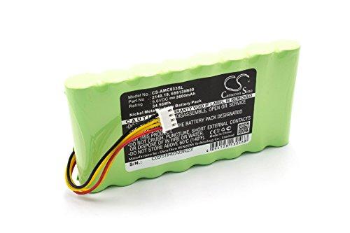 vhbw NiMH batteria 3600mAh (9.6V) per misuratore multimetro AMC 3945/3945-B, 8333, 8335, 8336, 8435, CA6116, CA6550, CA6555, OX Oscilloscopes