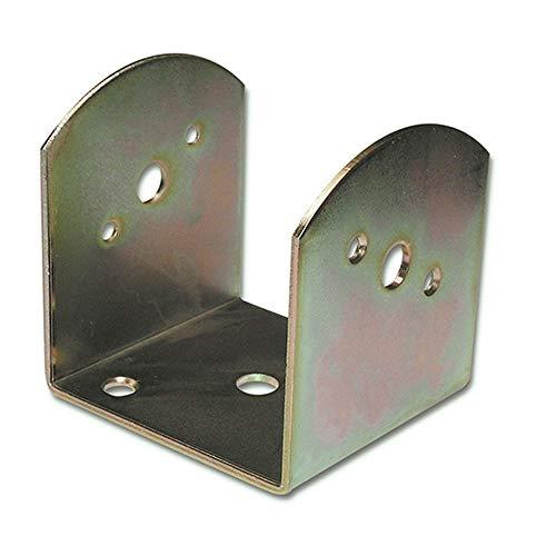 12X Pfostenträger 45x70x90 mm Stahl grau beschichtet