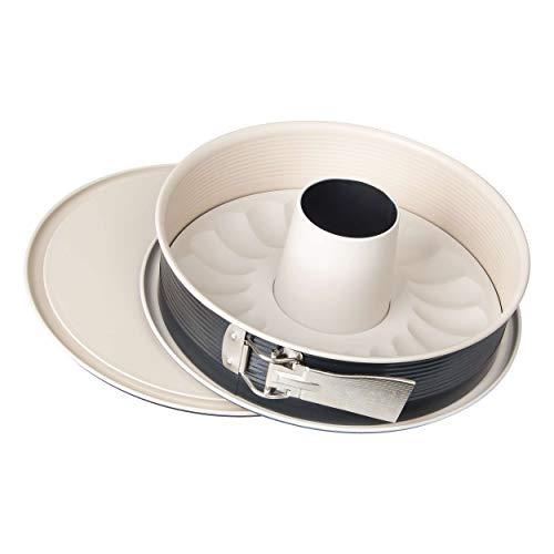 Zenker 7813 Springform Crème Noir mit 2 Böden, Durchmesser 29 cm, Edelstahl, grau / beige, 28 x 28 x 7 cm