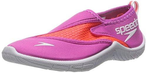 Speedo Unisex-child Water Shoe Surfwalker Pro 2.0,Pink/White,12 Kids US