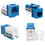 Cat6 RJ45 Keystone Jack Punch-Down Network Blue (30)