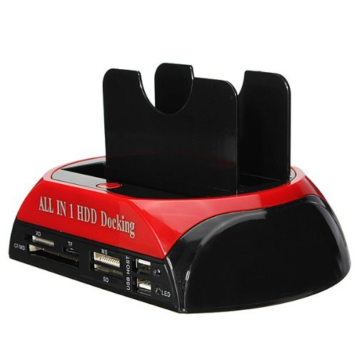 "All-in-one Dual HDD Docking Station for 2.5""/3.5"" HDD Sata/IDE"